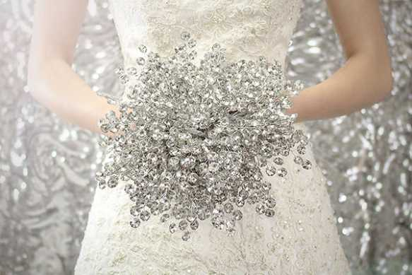 آلبوم عکس دسته گل عروس بدون گل!