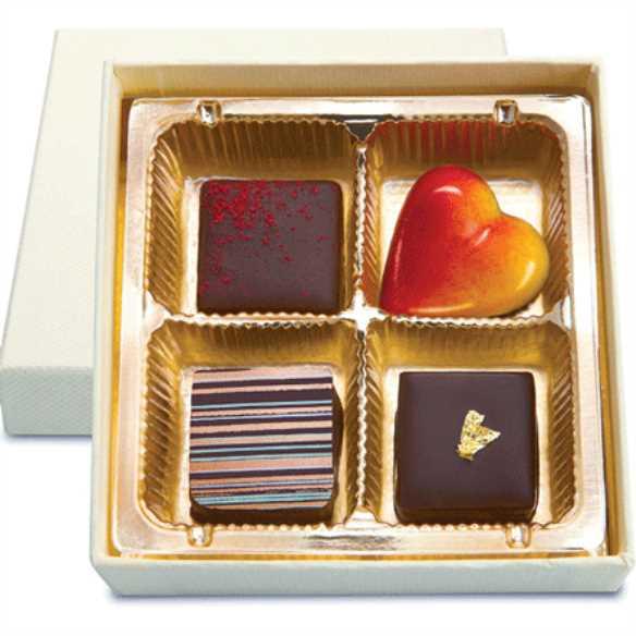 حقههای شکلاتی برای شیرینی جشن عروسی