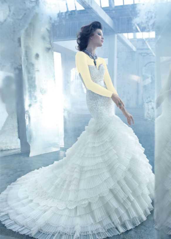 معجزه تور در طراحی لباس عروس