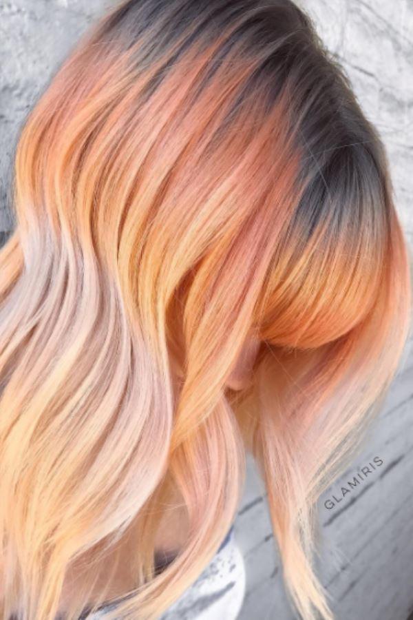 رنگ موی هلویی، بلوند و دودی