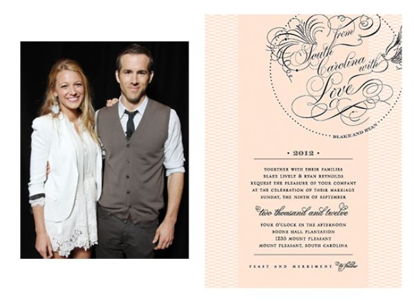 کارت عروسی بلیک لایولی و رایان رینولدز
