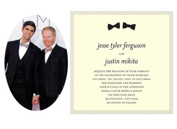 کارت عروسی جس تایلر فرگوسن و جاستین میکیتا