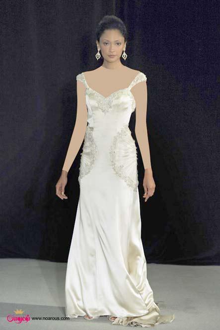 آلبوم عکس لباس عروس، مناسب اندام ساعت شنی