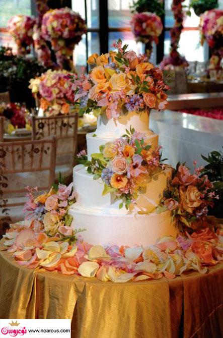آلبوم عکس کیک های عروسی با شکوه