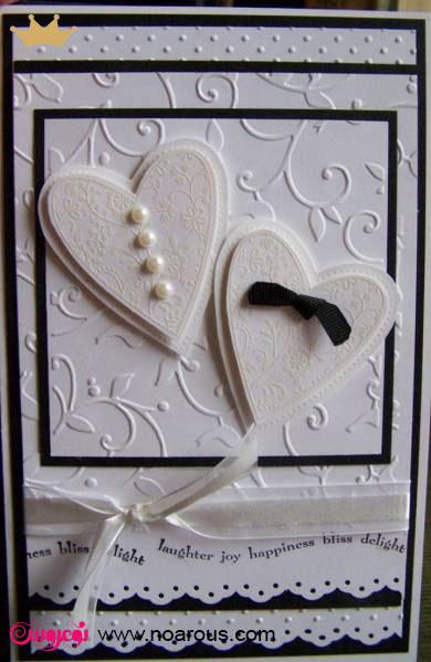 آلبوم کارت عروسی با تم عروس داماد مروارید و پاپیون