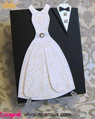 آلبوم کارت عروسی با تم عروس داماد نگین دار