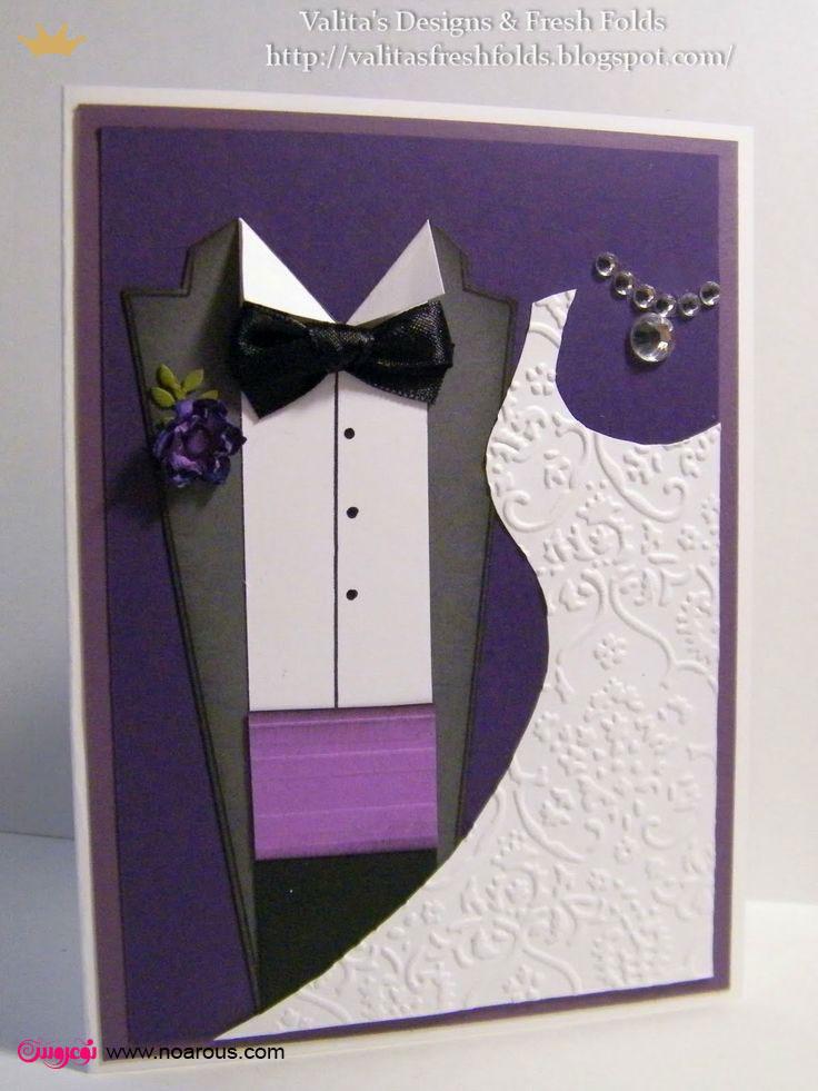 آلبوم کارت عروسی با تم عروس داماد و رنگ بنفش