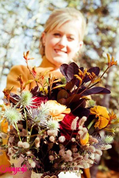 ایده هایی برای دسته گل های پاییزی عروس