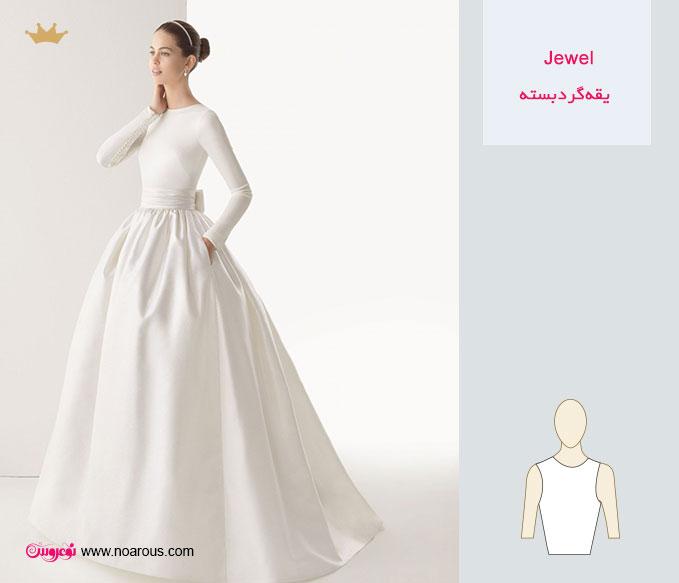 راهنمای انتخاب بهترین مدل یقه برای لباس عروس
