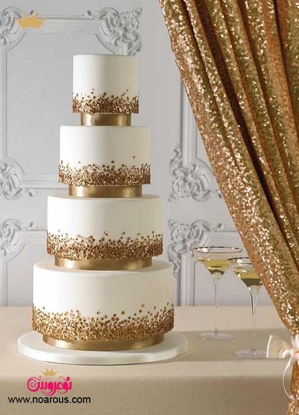 آلبوم کیک عروسی طلایی