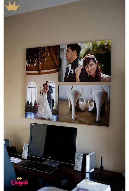 ایده های نصب قاب عکس در خانه نوعروس