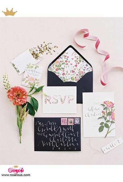 کارت عروسی دست ساز گل ریز