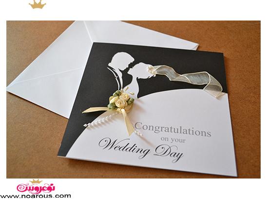 کارت عروسی دست ساز طرح عروس داماد