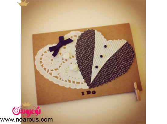 کارت عروسی دست ساز مینیمال عروس داماد