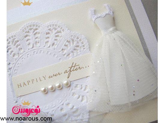 کارت عروسی دست ساز لباس عروس