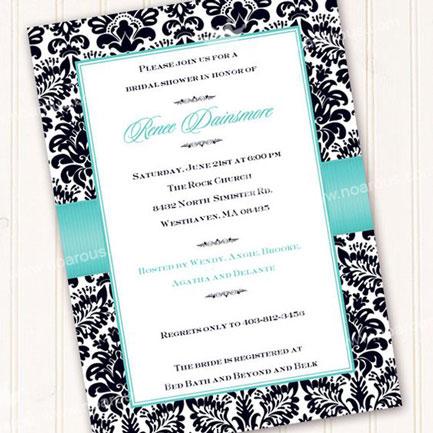 کارت عروسی برای عاشقان رنگ آبی