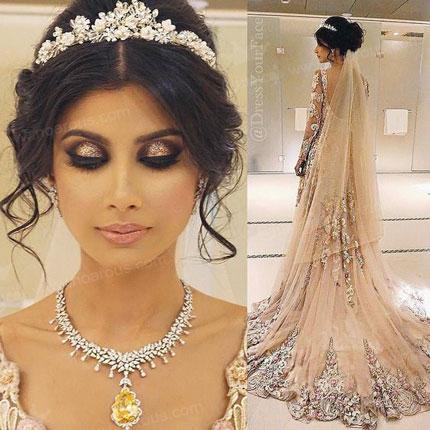 آلبوم  زیباترین مدل های تاج عروس 2016