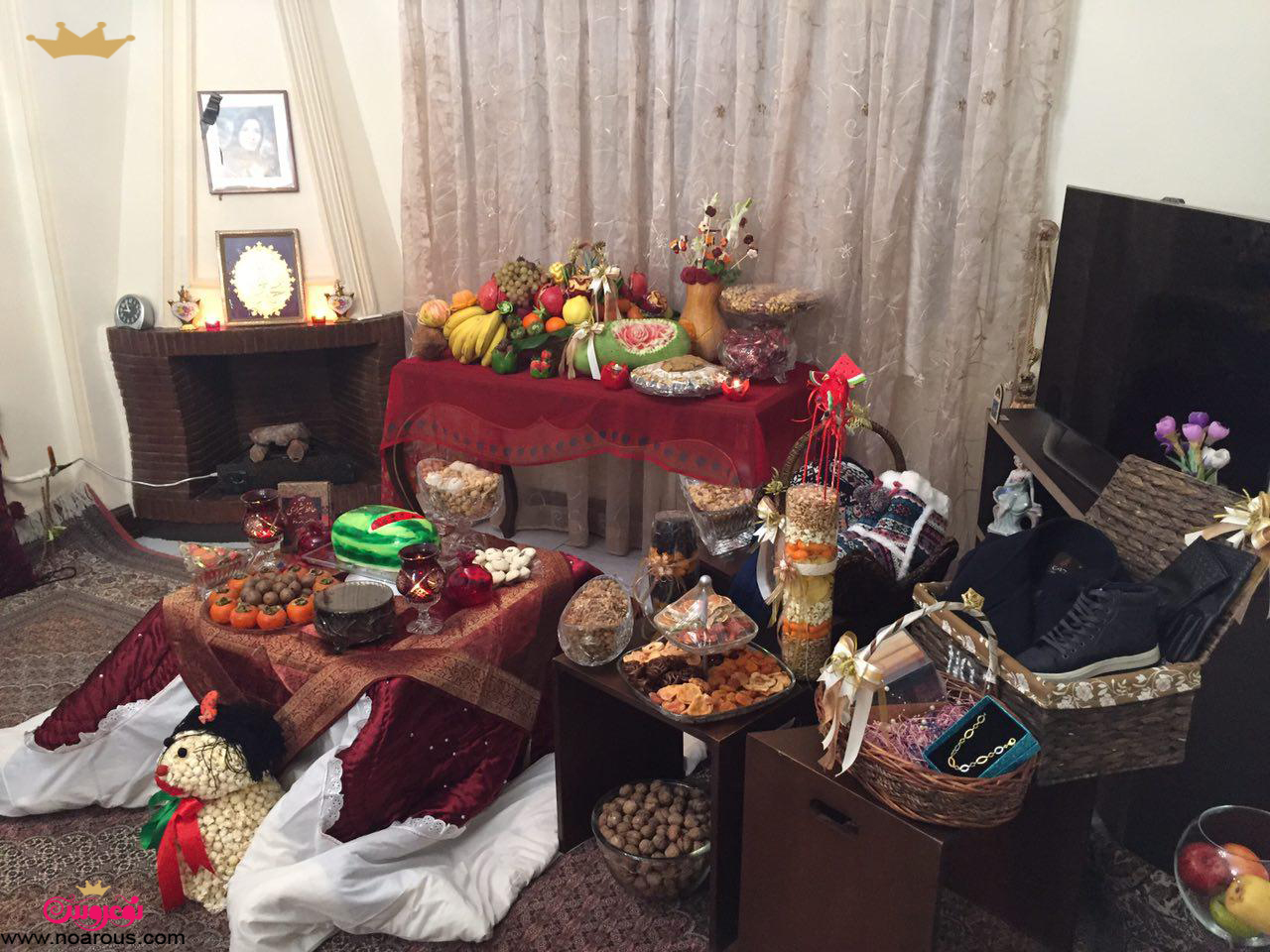 آلبوم:سفره شب یلدای عروس های تابستان95 باشگاه نوعروس
