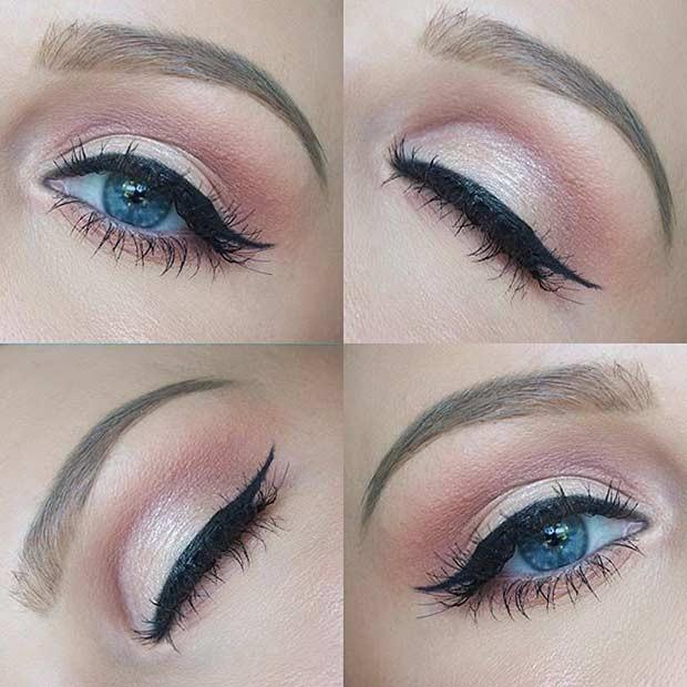 آرایش روزانه برای چشم آبی ها
