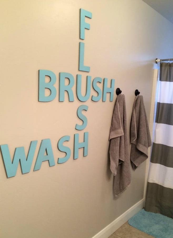 استفاده از حروف روی دیوار