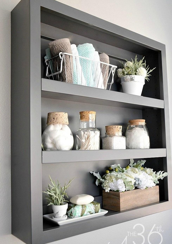 خاکستری مدرن در دستشویی