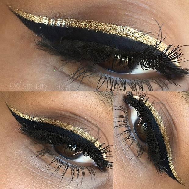 خط چشم اکلیلی طلایی