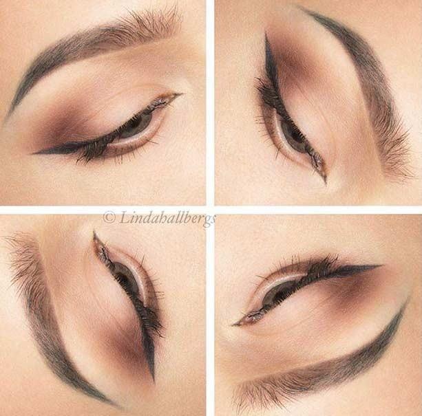 خط چشم بالدار برای آرایش روزانه