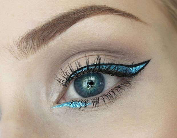 خط چشم فیروزه ای و مشکی