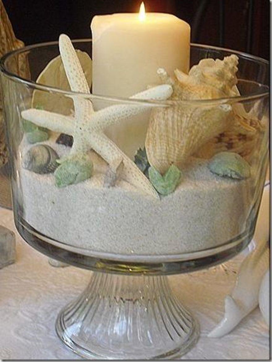 شمع با تم ساحلی