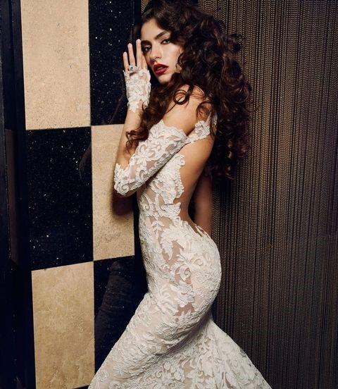 لباس عروس دانتل پشت باز