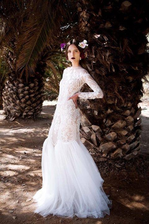 لباس عروس تور و دانتل