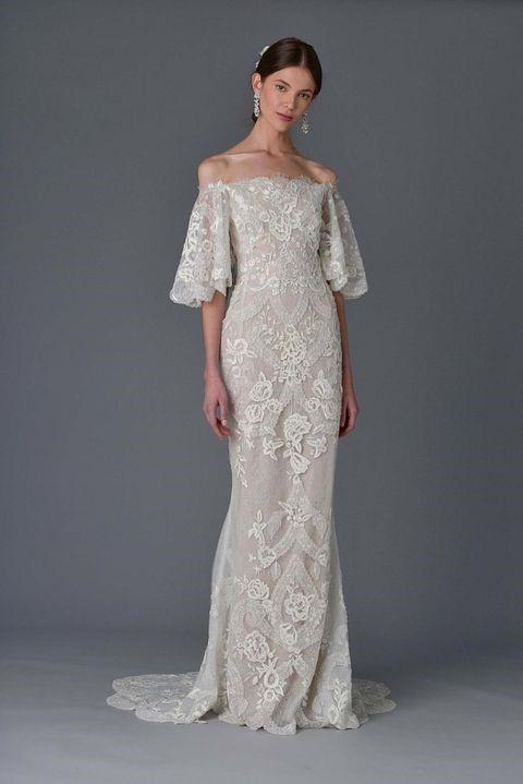لباس عروس گیپور دکلته و ماکسی