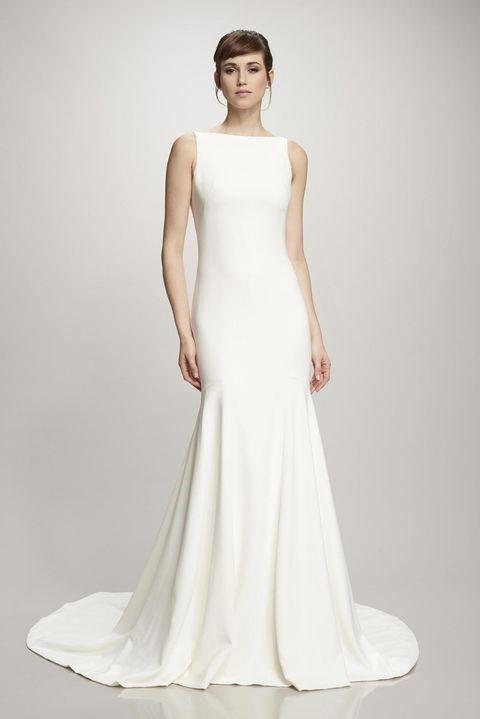 لباس عروس ساده سفید و بلند