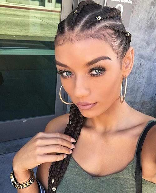 مدل بافت آفریقایی با گیره مو