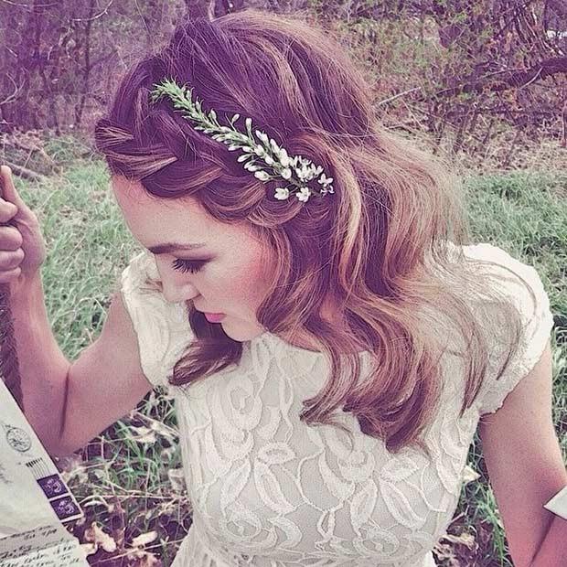 مدل موی عروس ساده و رمانتیک