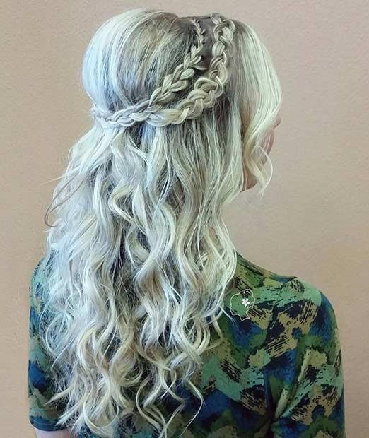 مدل موی نیمه باز پوش دار + بافت
