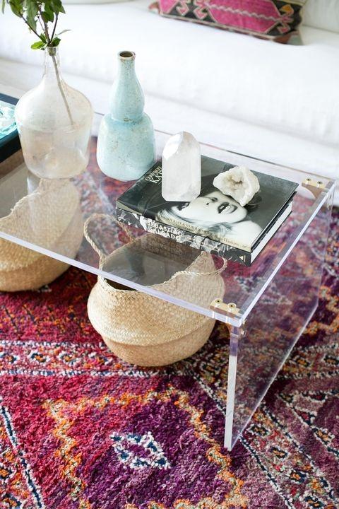 میز جلو مبلی شیشه ای