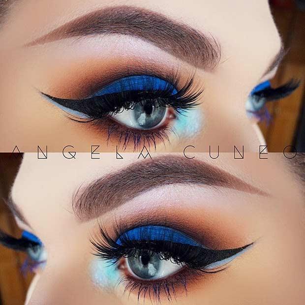چشمان دودی آبی