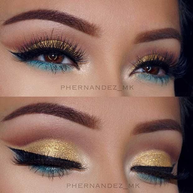 چشمان طلایی و سبز