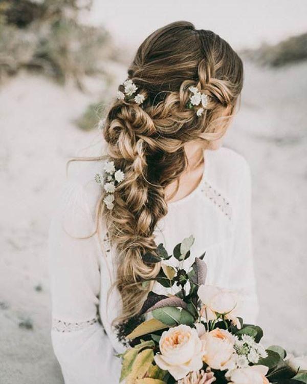 مدل موی عروس بافت ساده