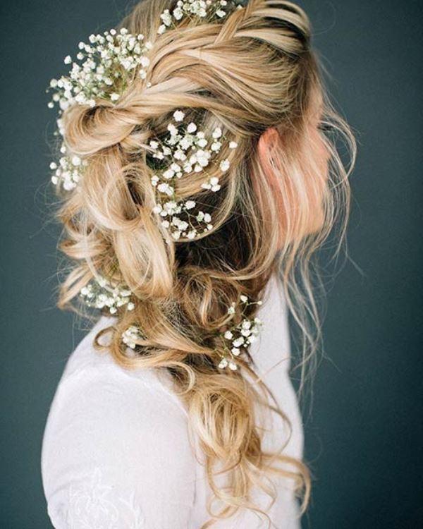مدل موی عروس به هم ریخته یک طرفه