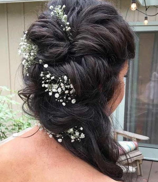 مدل موی عروس نیمه باز