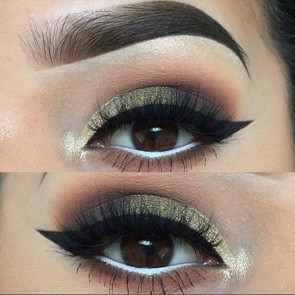 آرایش چشم دودی + سبز زیتونی