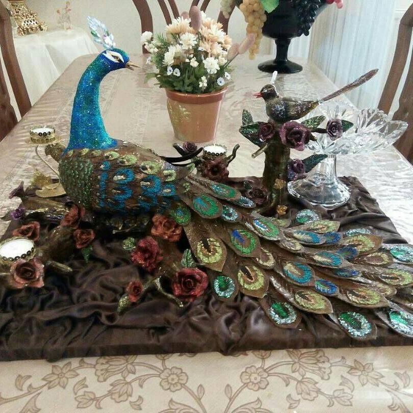 تزیین حنا به شکل طاووس تزیین حنای شب حنابندان (قسمت دوم) - تزیین حنا - نوعروس