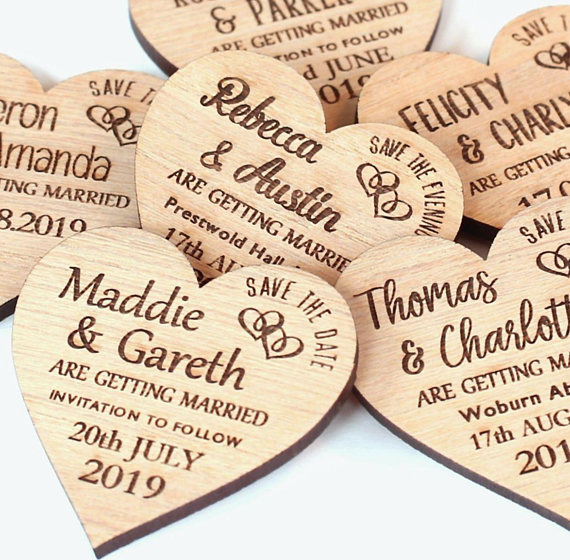 کارت عروسی چوبی قلبی