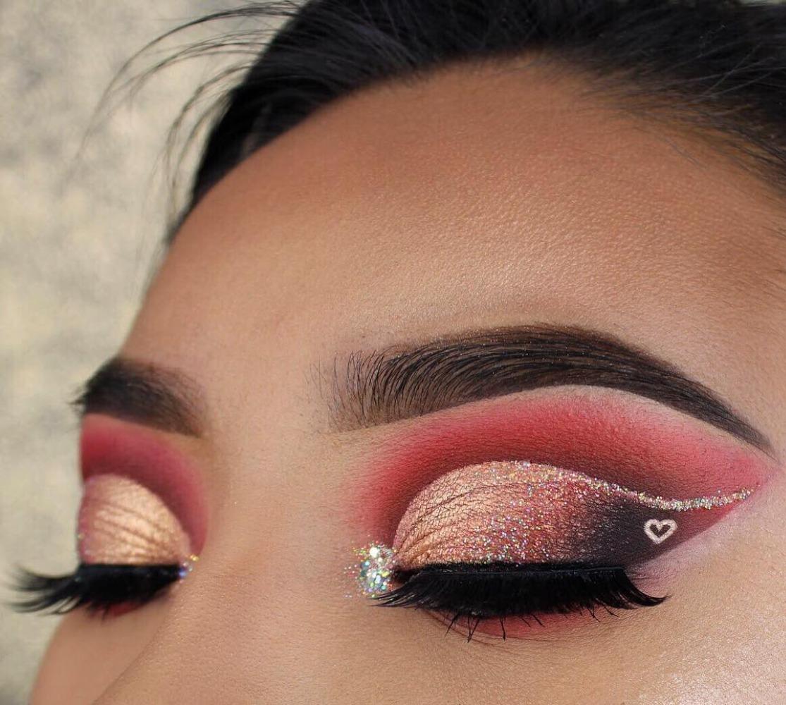 آرایش ولنتاین 2018؛ قرمز و مشکی