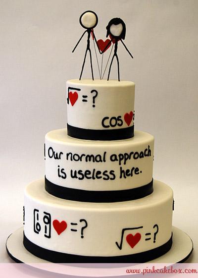 کیک عروسی برای عروس و دامادهای علاقه مند به ریاضی