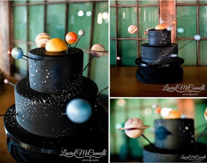 کیک عروسی عروس و دامادهای مهندس هوافضا