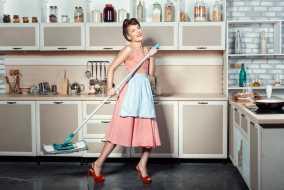 نوعروس ها و خانه تکانی آشپزخانه