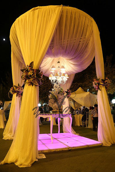 باغ و تشریفات یلان | چیدمان باغ تالار عروسی